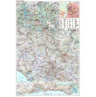 Serbien Montenegro GiziMap 1:500.000 FYS