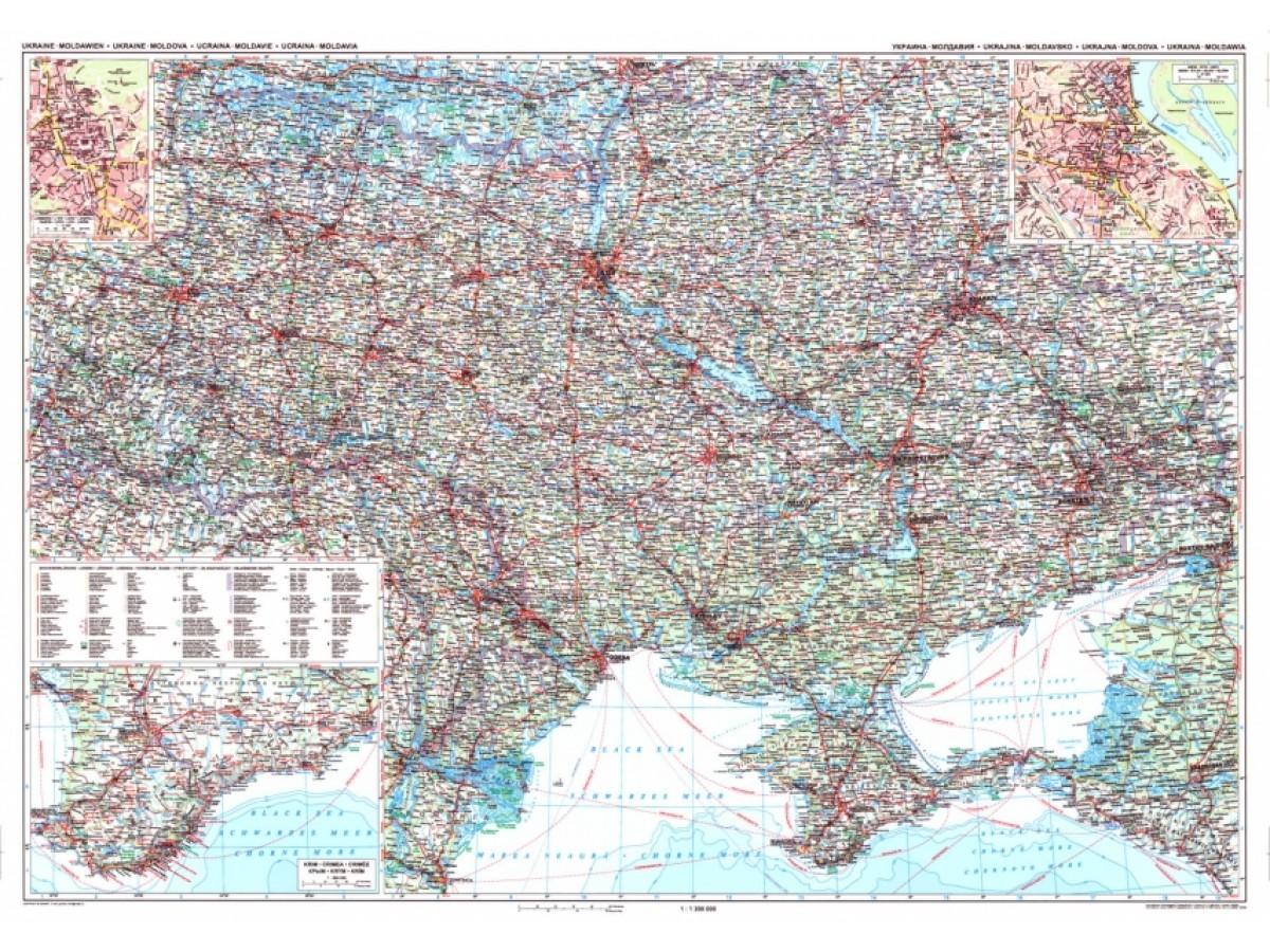 Ukraina Moldavien Gizimap 1:1,2milj