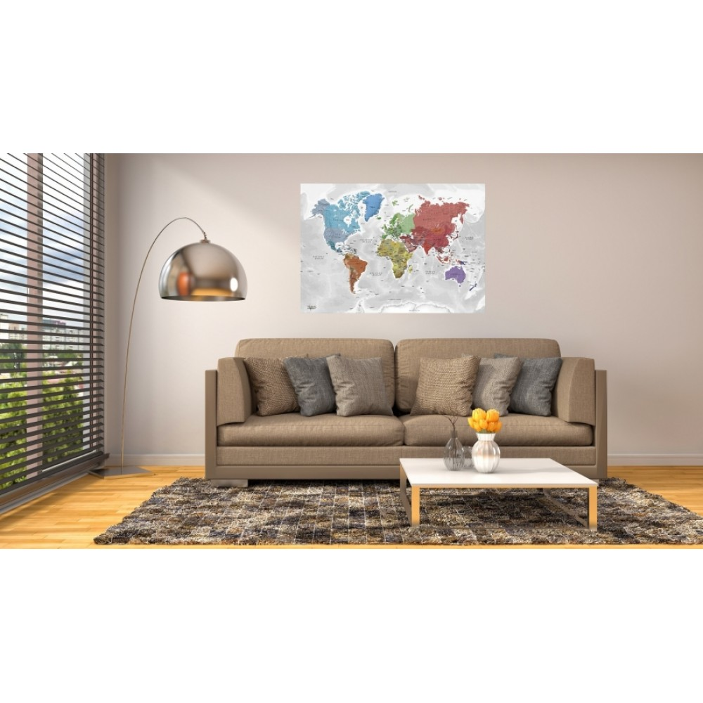 The World by Kartbutiken Continents