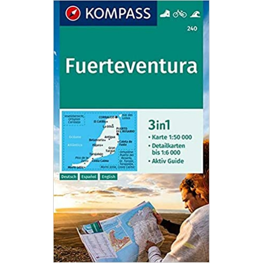 240 Fuerteventura Kompass Wanderkarte