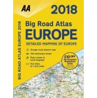AA Big Road Atlas Europe 2018