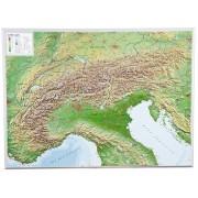 Alperna Reliefkarta 77x57cm