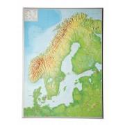 Skandinavien Relief 77x57cm