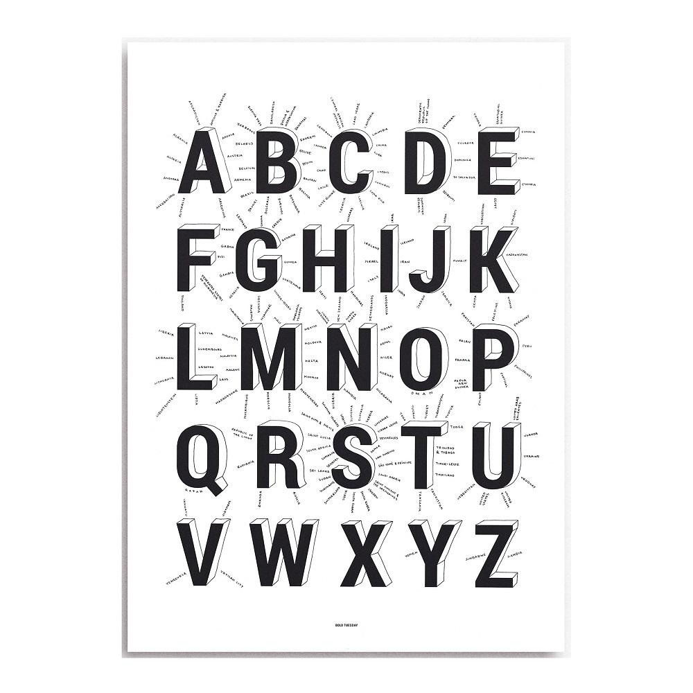 Alphabet of Countries Bold Tuesday