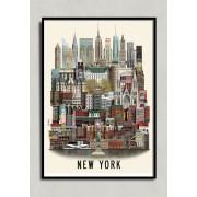 New York poster 50x70cm