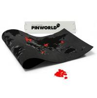 Pin World - Världskarta på filt med nålar 130x70cm