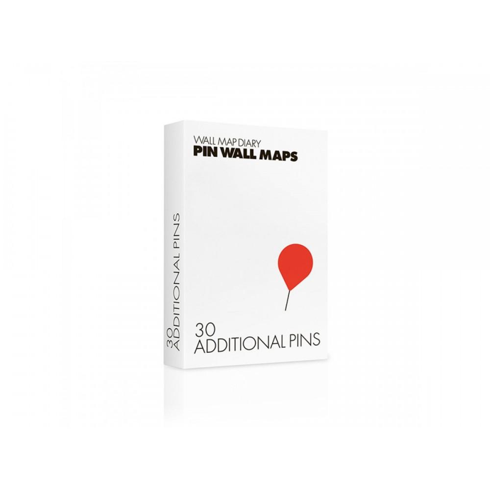 Köp Kartnålar Pin World Röda med snabb leverans Kartbutiken.se