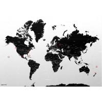 Magic World Map, Självhäftande Världskarta
