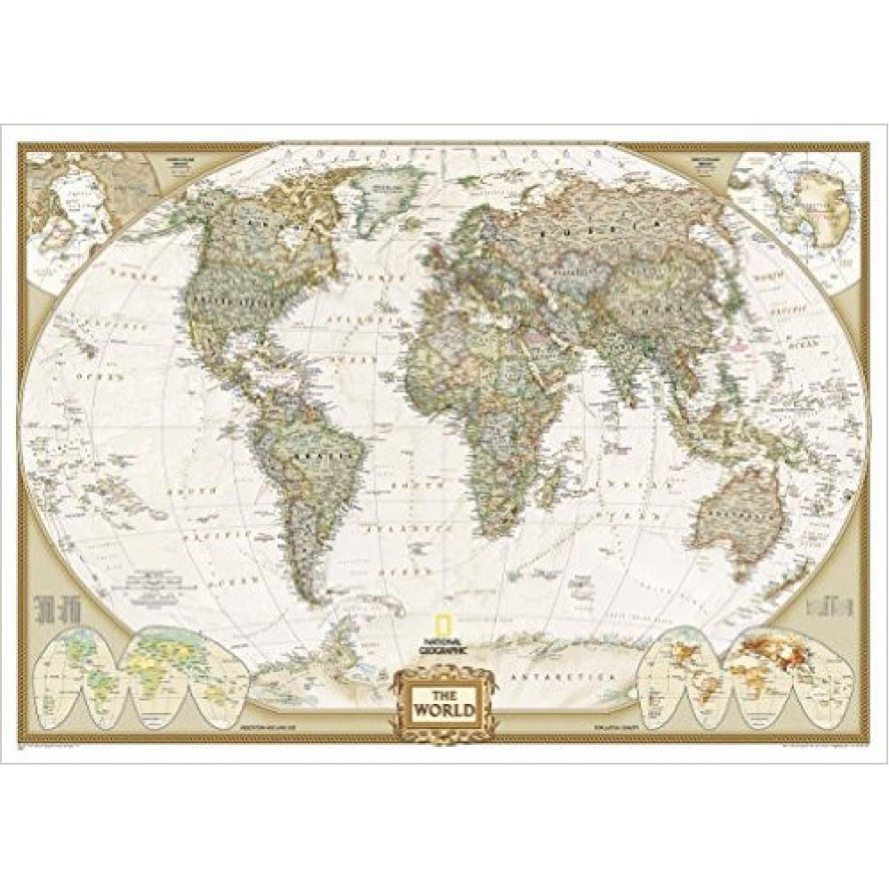 Världen NGS Antik Stil 1:36,38milj 117x77cm
