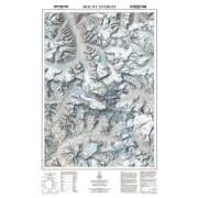 Mount Everest Väggkarta NGS 1:50.000