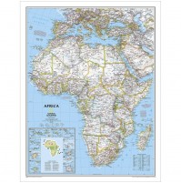 Afrika NGS 1:14,244milj. POL 61x79cm
