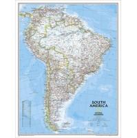 Sydamerika NGS 1:7,1milj. POL 91x117cm