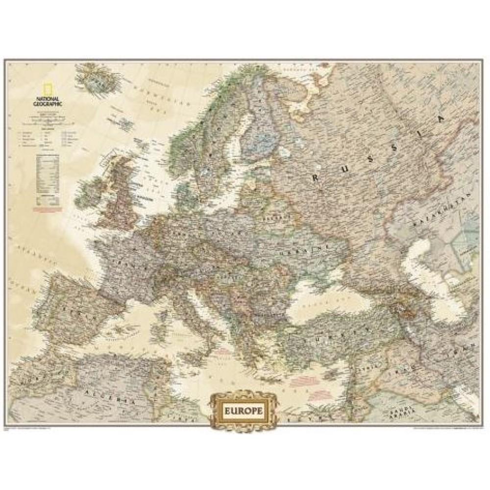 Europa NGS 1:8,425milj. POL Antik stil 77x60cm