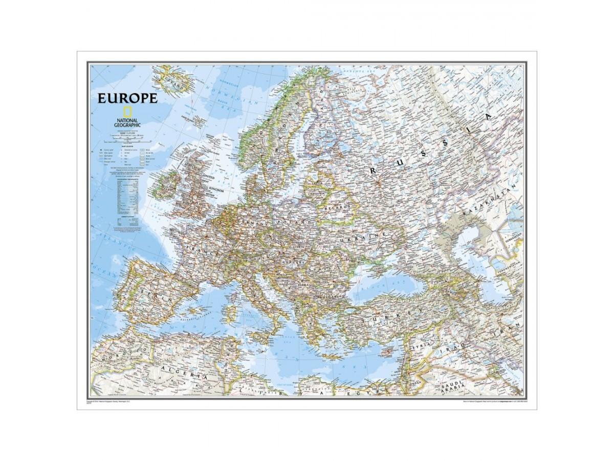 Europa NGS 1:5,4milj. POL 116x91cm