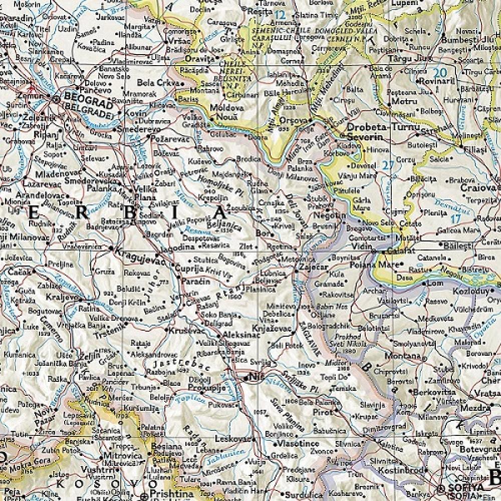 Balkan Väggkarta NGS 1:1 950 000