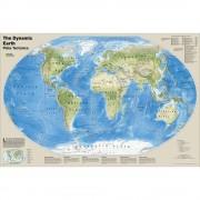 Världen Väggkarta NGS Dynamic Earth 1:45,5 milj
