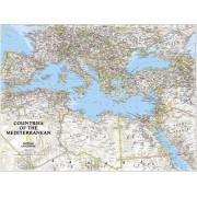 Medelhavsregionen Väggkarta NGS 1:6,957 milj. POL