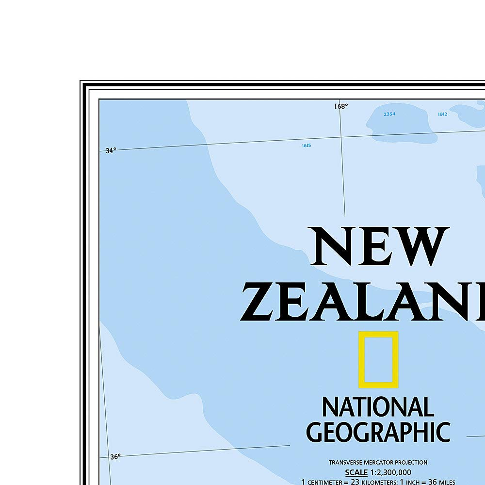 Nya Zeeland Vägkarta NGS 1:2,3milj POL