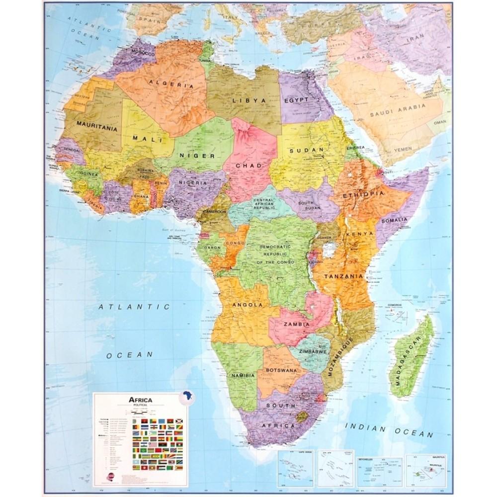 Afrika Maps International 1:8milj. POL 100x120cm