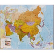 Asien Maps International 1:11milj POL 120x100cm