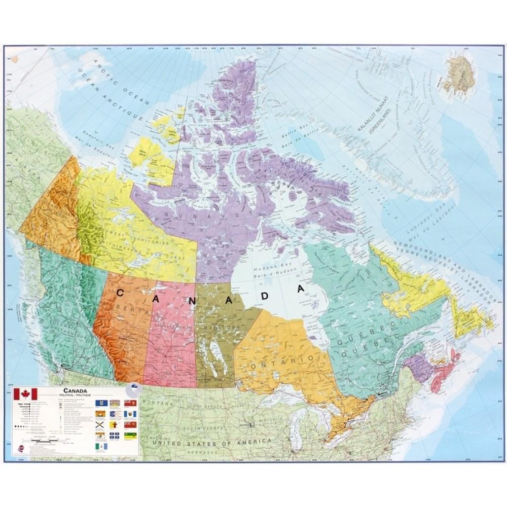 Kanada Maps International 1:4,35milj POL
