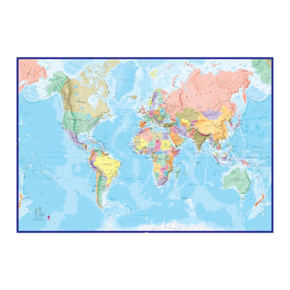 Världen Maps Int. Tapet POL 232x158cm