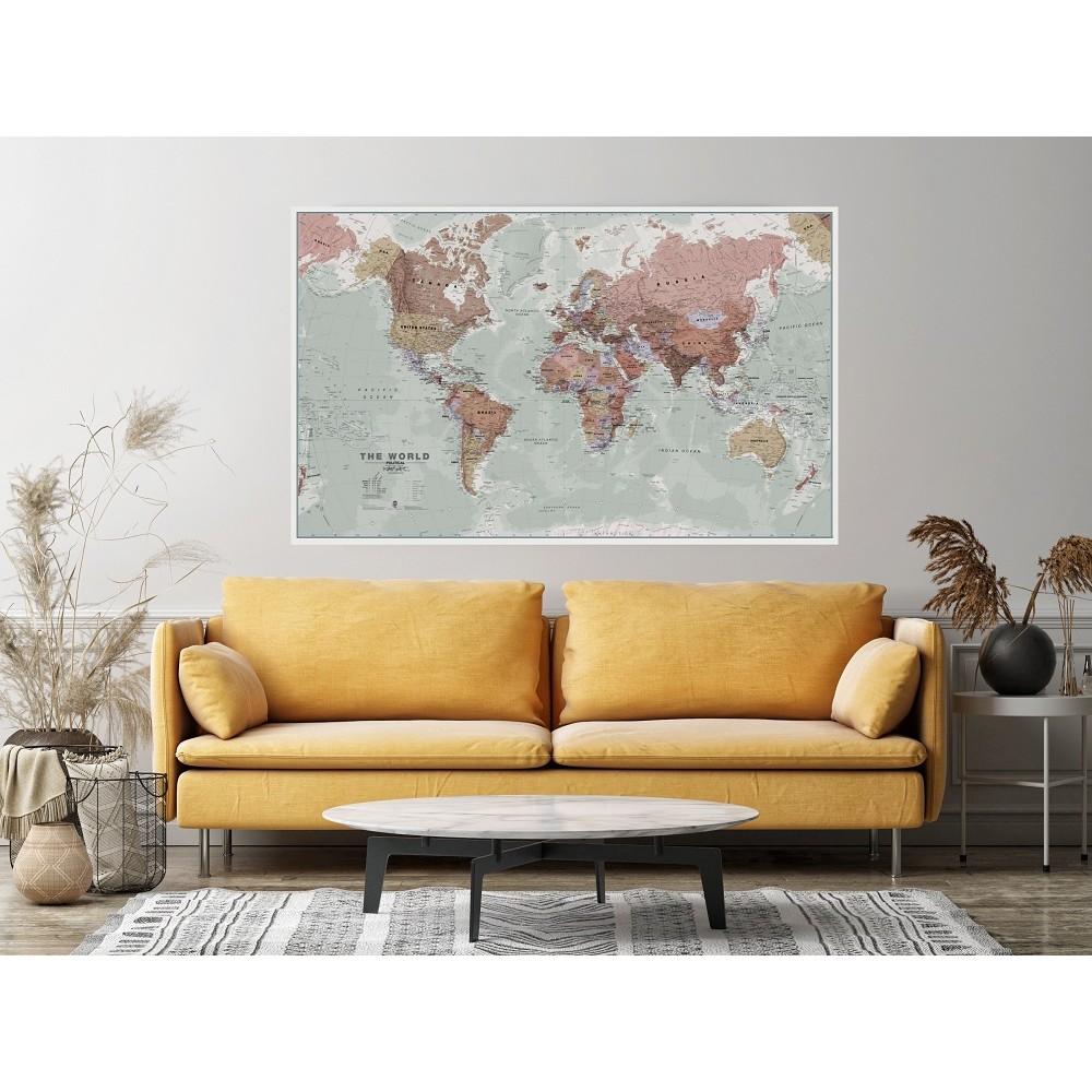 Världen MapsInt. Executive 1:30milj (POL) 136x84cm med ram