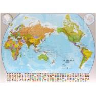 Världen Mapsint 1:30milj POL Pac. Cent. (POL) 136x100cm
