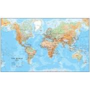 Världen MapsInt 1:30milj Physical 136x84cm