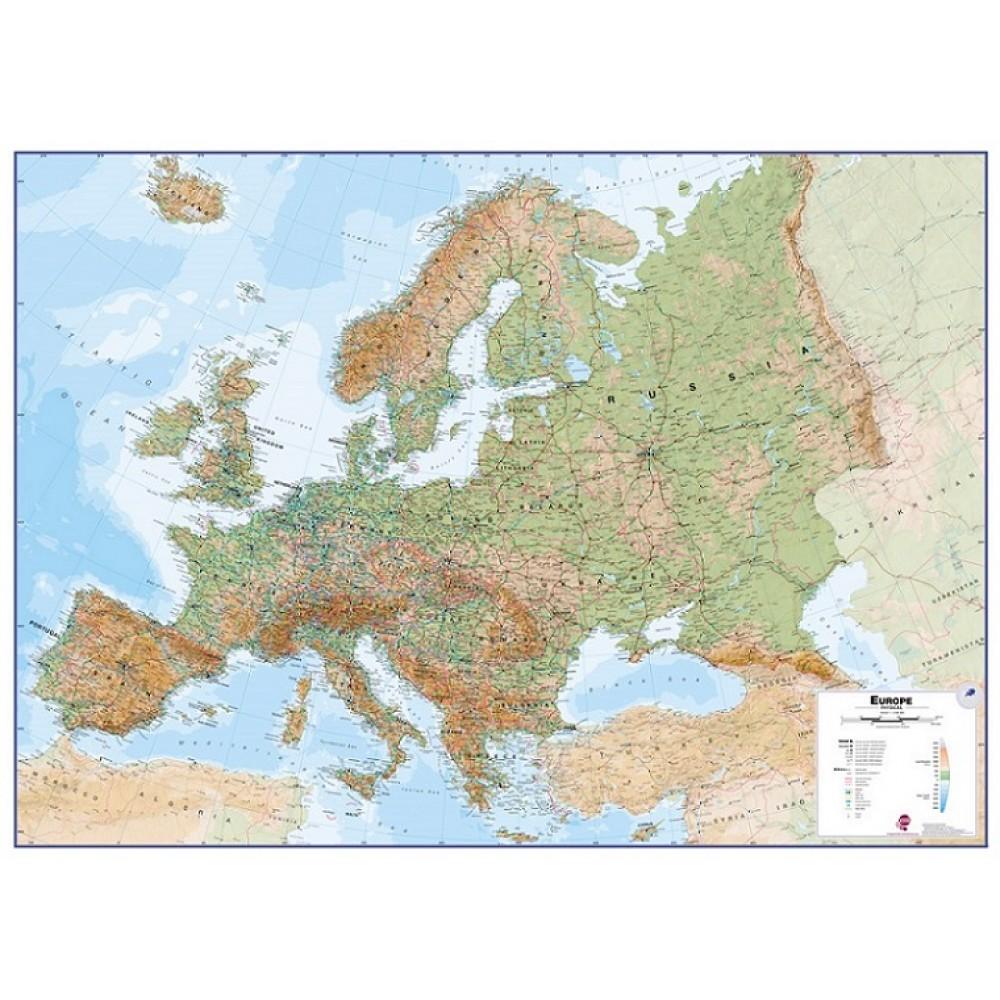 Europa väggkarta Maps International 1:4,3 milj FYS 136x99cm