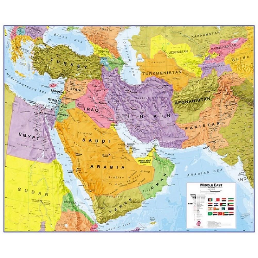 Mellanöstern Maps International 1:4,35milj POL