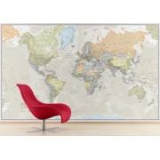 Världen Maps Int. Tapet Antik POL 232x158cm