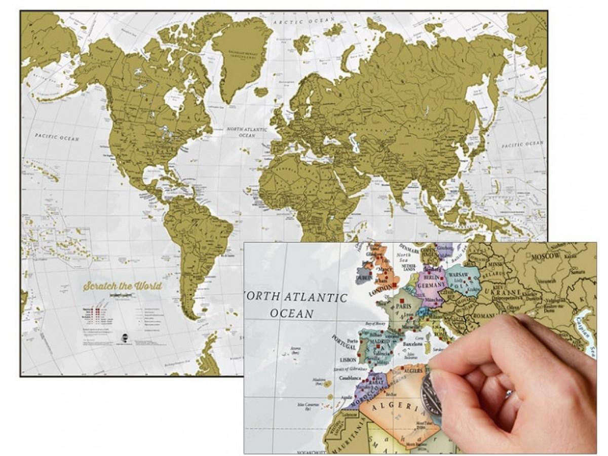 Scratch Världen Maps International