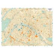 Paris Väggkarta Michelin