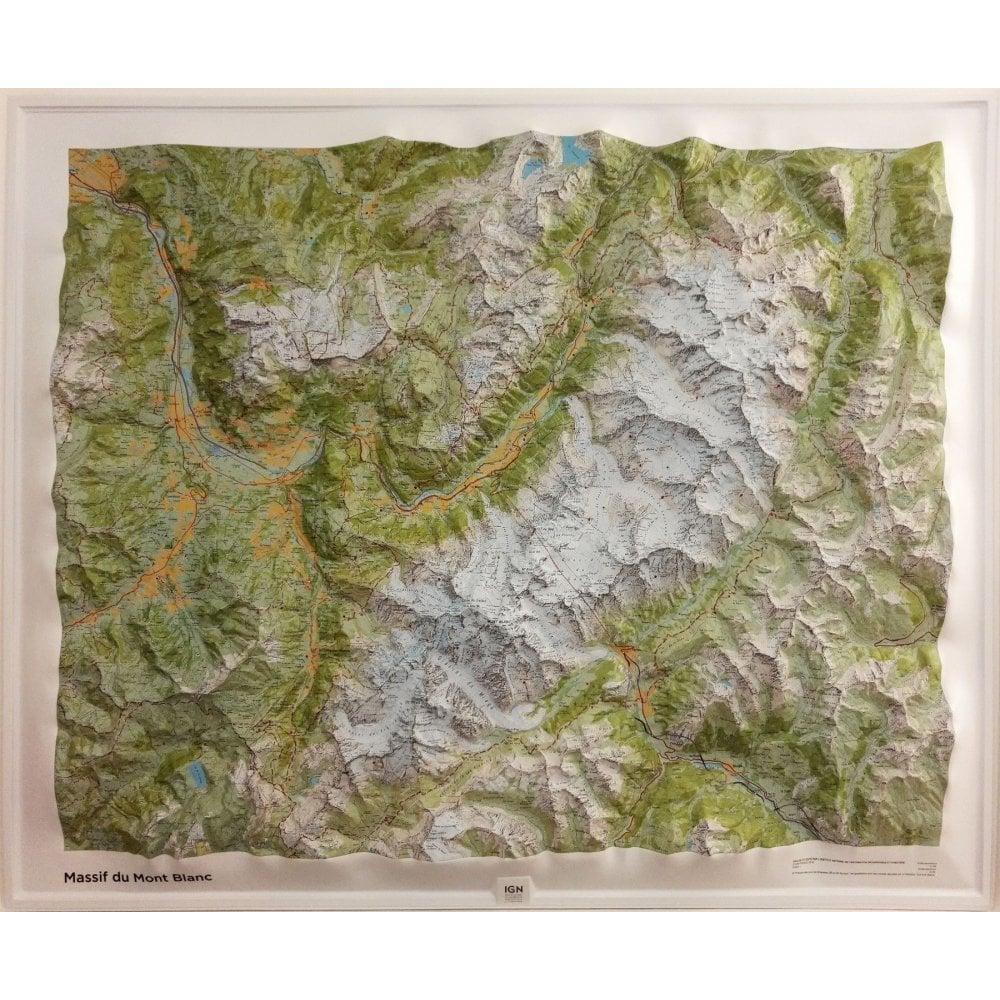 Mont Blanc relief
