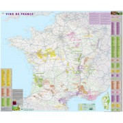 Vinkarta Frankrike IGN Väggkarta