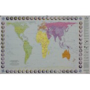 World Map Peters Projection 130x83cm