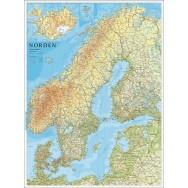 Norden väggkarta Norstedts 1:2mi..