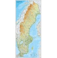 Sverige Norstedts 1:1,3 milj 55x123cm