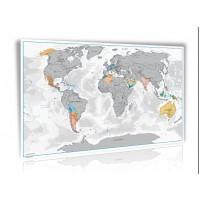 Scratch off map Världen Norstedts