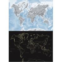 Världskarta Självlysande Norstedts 84x59cm