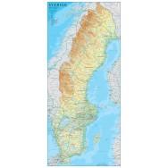 Sverige Norstedts 1:1,6 milj 46x100cm