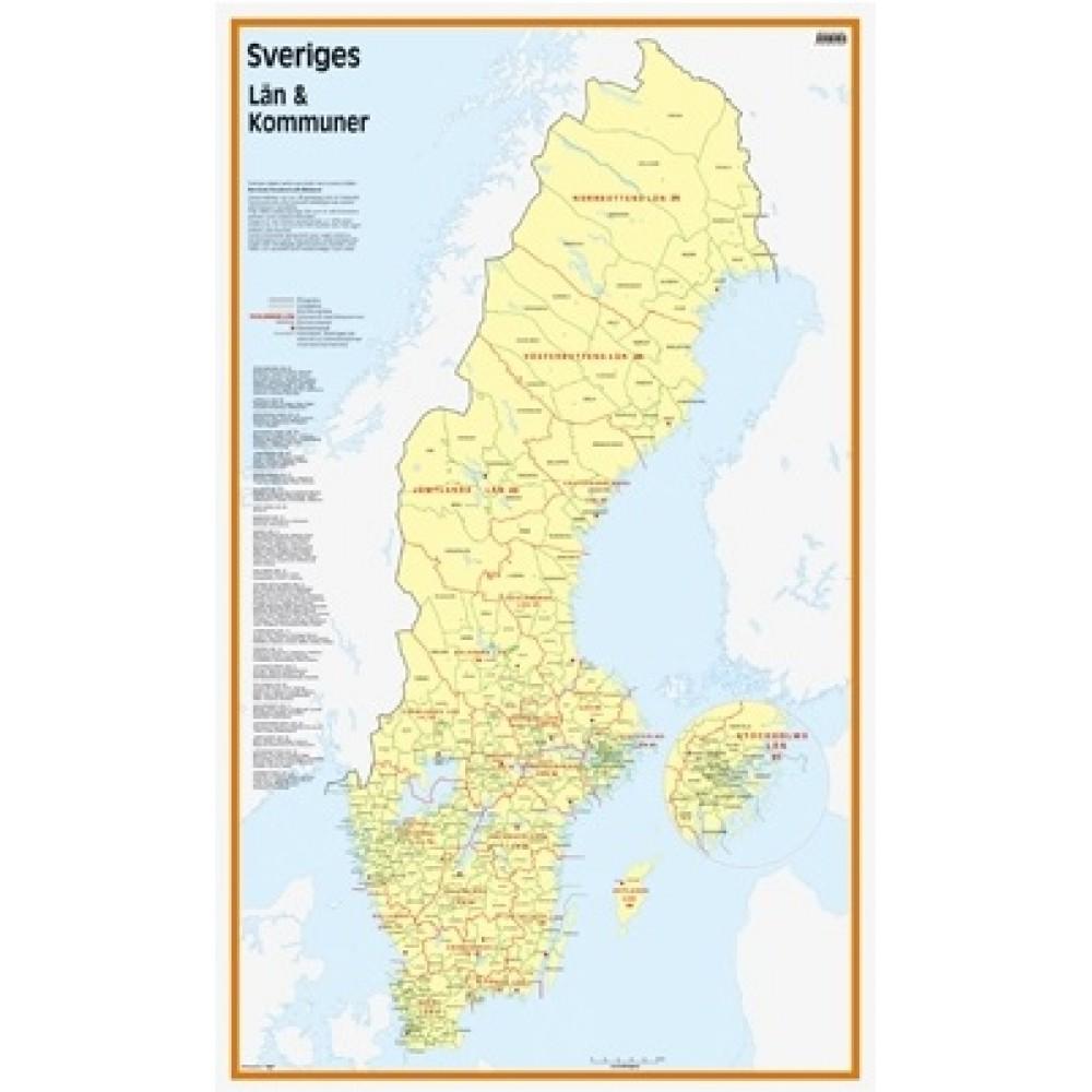 karta sverige län