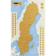 Skrapkarta Sverige 49x80cm