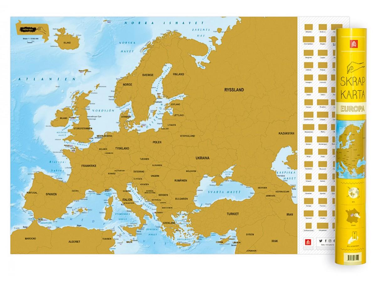 Lettland Karta Europa.Kop Skrapkarta Europa Med Snabb Leverans Kartbutiken Se