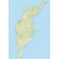 Gotland väggkarta 70x100cm