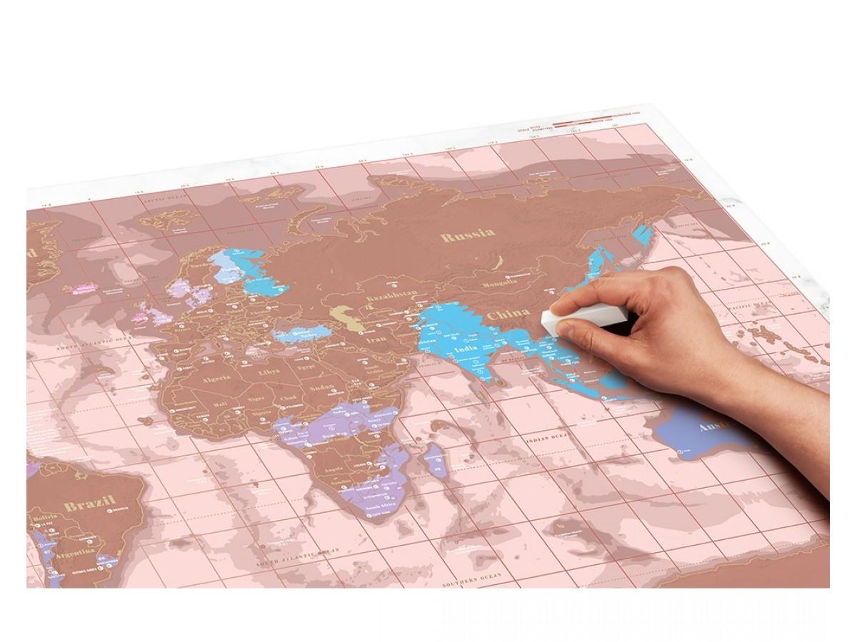 Scratch Map Roséguld