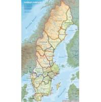 Karta Sverige Lansgranser.Kop Skrapkarta Sverige 49x80cm Med Snabb Leverans Kartbutiken Se
