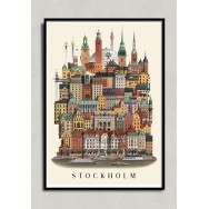 Stockholm poster 50x70cm