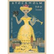 Stockholm 700 år plansch 50x70